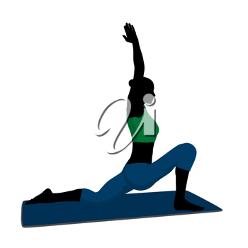 Female yoga art illustration silhouette on a white background