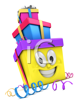 3D Illustration of a Stack of Gifts