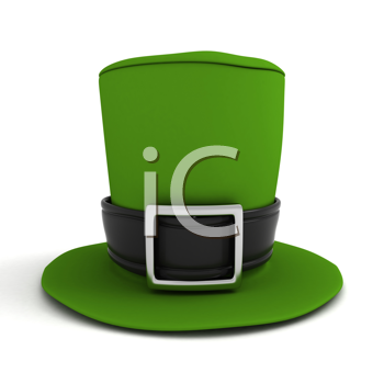 3D Illustration of a Leprechaun's Hat