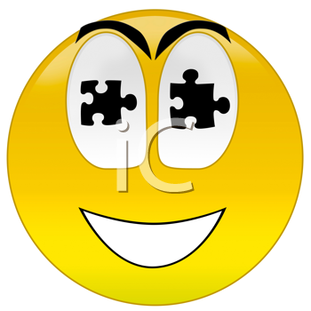 3d rendering  happy smiley for illustrate of solution or success