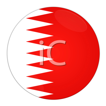 Abstract illustration: button with flag from Bahrain country