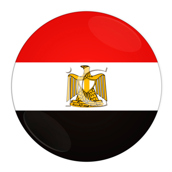 Abstract illustration: button with flag from Egypt country