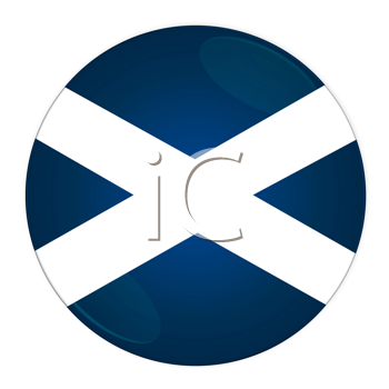 Abstract illustration: button with flag from Scotland country