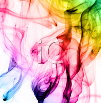 Royalty Free Clipart Image of Abstract Colorful Fumes