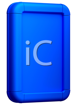 Royalty Free Clipart Image of a Blue Billboard