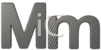 Royalty Free Clipart Image of a Capital and Lowercase M