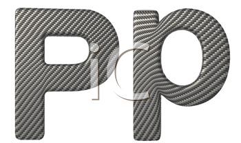Royalty Free Clipart Image of a Capital and Lowercase P