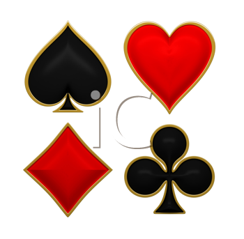 Royalty Free Clipart Image of Card Suits