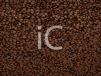 Royalty Free Clipart Image of a Background of Coffee Beans