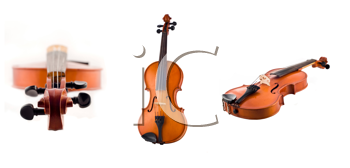 Royalty Free Clipart Image of Antique Violins