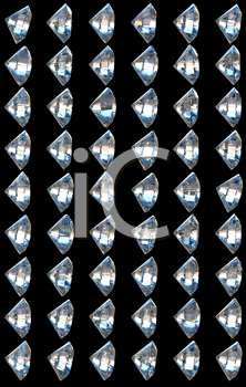 Royalty Free Clipart Image of Side Views of Diamonds