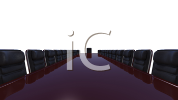 Royalty Free Clipart Image of a Business Conference