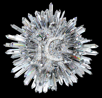 Royalty Free Clipart Image of a Crystal Sphere
