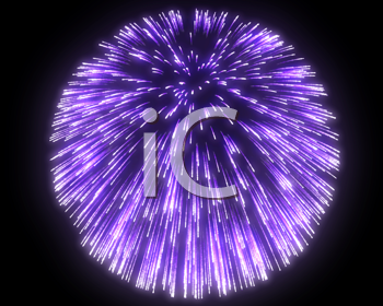 Royalty Free Clipart Image of Purple Fireworks