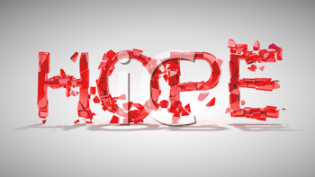 Royalty Free Clipart Image of the Word Hope