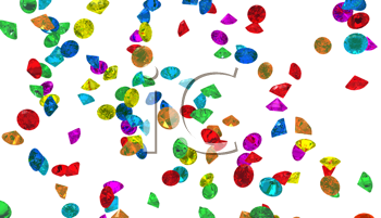 Royalty Free Clipart Image of Colorful Diamonds