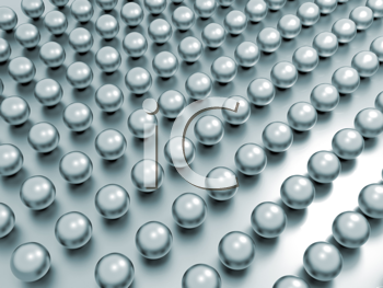 Royalty Free Clipart Image of Rows of Pearls