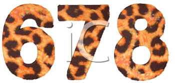 Royalty Free Clipart Image of Leopard Print Numbers