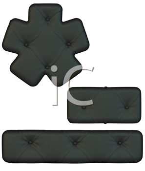 Royalty Free Clipart Image of Leather Font Symbols