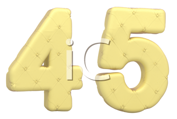 Royalty Free Clipart Image of Beige Numerals