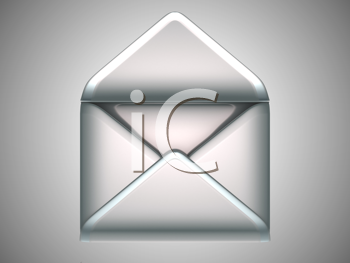 Royalty Free Clipart Image of an Opened Envelope