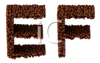Royalty Free Clipart Image of Roasted Coffee Font E and F