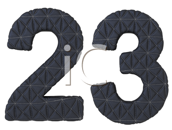 Royalty Free Clipart Image of Black Leather Numerals