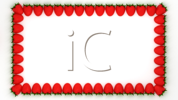 Royalty Free Clipart Image of a Strawberry Frame