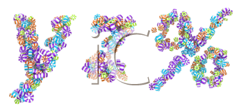 Royalty Free Clipart Image of Candy Letters