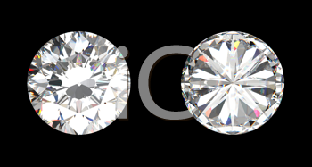Royalty Free Clipart Image of Top View of a Diamond