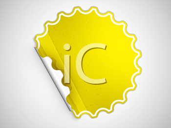 Royalty Free Clipart Image of a Yellow Sticker