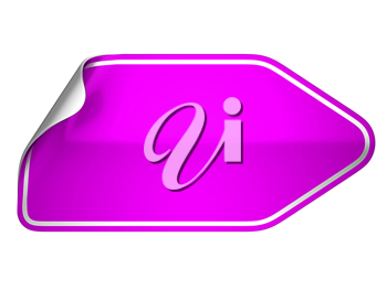 Hamous magenta sticker or label over white background