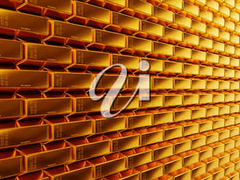 Wealth: gold bars or bullions. Useful as background. large resolution