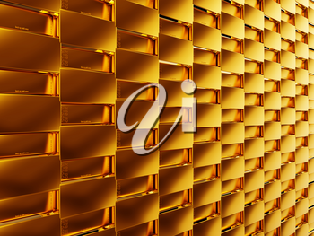 Success: gold bars or bullions. Useful as texture or background
