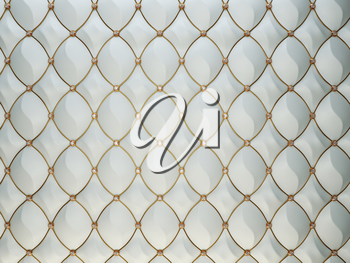 Luxury grey leather background with diamonds and golden wire. High resolution