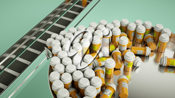 pharmaceutical business manufacturing pills and drugs. medicine and pharmacy
