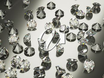Diamonds or gemstones with reflection. Large resolution
