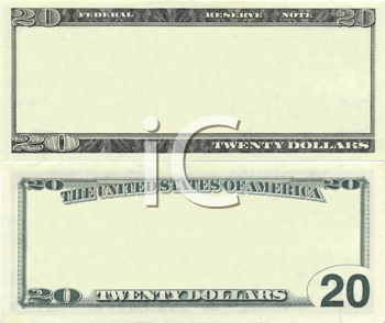 Royalty Free Clipart Image of a Banknote