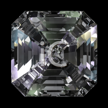 Royalty Free Clipart Image of a Diamond on Black