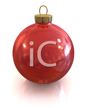Royalty Free Clipart Image of a Red Christmas Ornament
