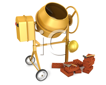 Royalty Free Clipart Image of a Concrete Mixer