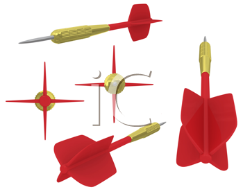 Royalty Free Clipart Image of Darts