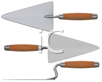 Royalty Free Clipart Image of Trowels