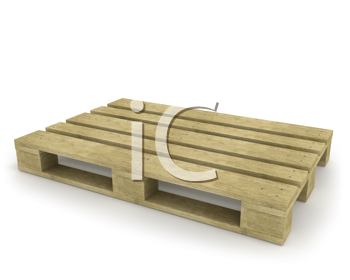 Royalty Free Clipart Image of a Wooden Pallet