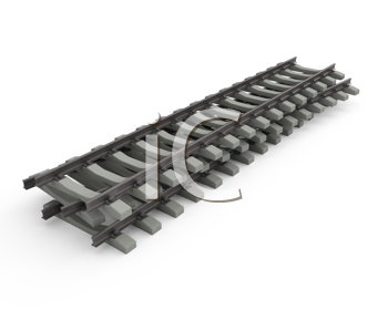 Royalty Free Clipart Image of a Single Rail