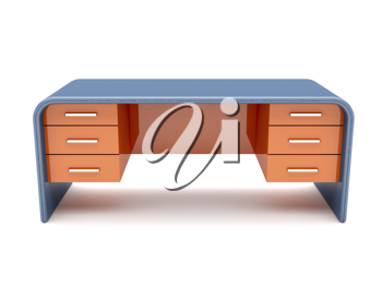 Royalty Free Clipart Image of a Desk