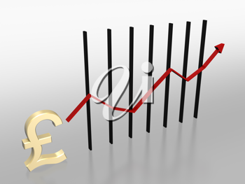 Royalty Free Clipart Image of a Chart With a Pound Symbol