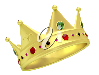 Royalty Free Clipart Image of a Golden Crown