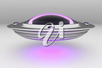 Royalty Free Clipart Image of a Unidentified Flying Object