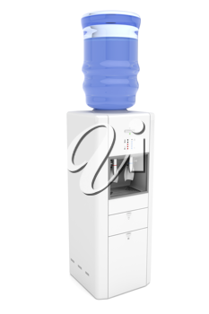 Royalty Free Clipart Image of a Water Cooler